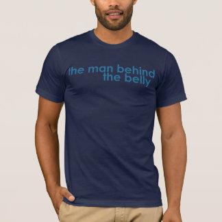 Camiseta O homem atrás do pai da barriga a ser T