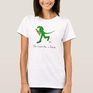Camiseta O homem do lagarto é francês. (Mulheres)
