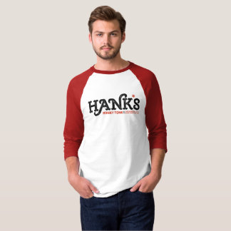 Camiseta O Honky Tonk de Hank o 3/4 de vermelho (dos