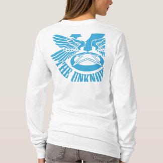 Camiseta O Hoody cabido das mulheres azuis