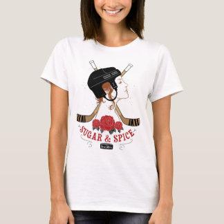 Camiseta O hóquei das mulheres do açúcar e da especiaria