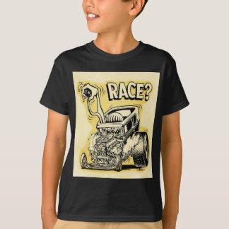 Camiseta o hot rod quer competir o oldschool dos desenhos