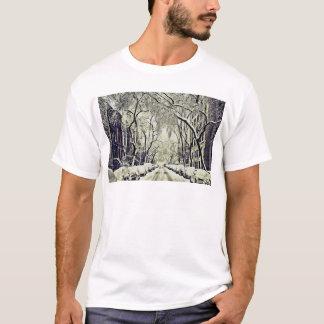 Camiseta O inverno cobriu ruas