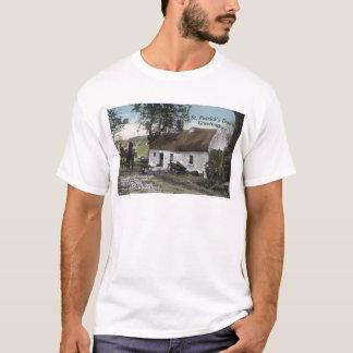 Camiseta O irlandês do vintage thatched o dia do St.