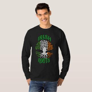 Camiseta O irlandês enraíza a bandeira da árvore da herança