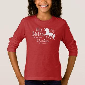 Camiseta O irmão da irmã mais velha caçoa meninas da