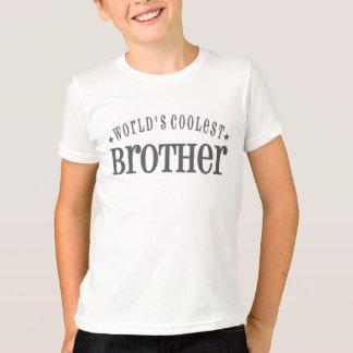 Camiseta O irmão o mais fresco do mundo - cinza