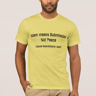 Camiseta O Islão significa o T da paz da submissão não