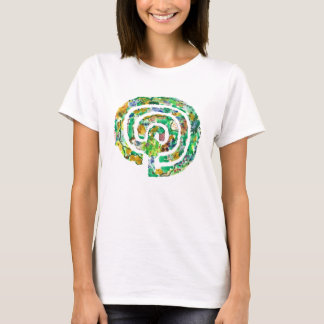 Camiseta O jardim do labirinto - design original do