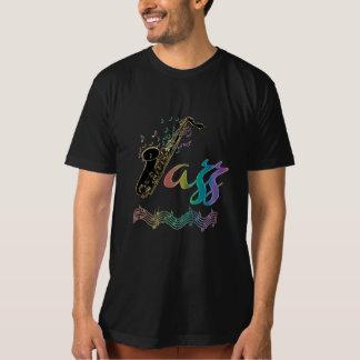 Camiseta O jazz do ~ do amante de música jazz nota o T do