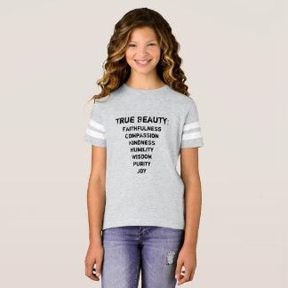 Camiseta O jérsei da menina verdadeira da beleza