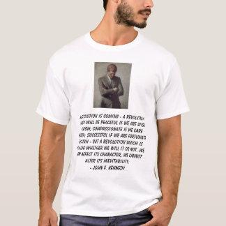 Camiseta o jfk, revolução de A está vindo - uma revolução