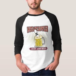 Camiseta O jogador imediato apenas adiciona a cerveja