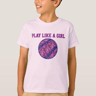 Camiseta O jogo gosta de uma menina