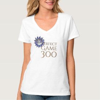 Camiseta O jogo perfeito aperfeiçoa 300 que rolam com fita