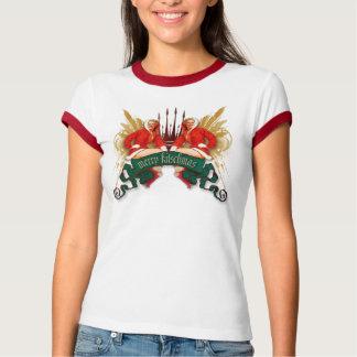 Camiseta O kitsch Bitsch: Pin-Acima gêmeo de Kitschmas do