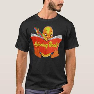 Camiseta O kitsch retro do vintage caçoa o livro para