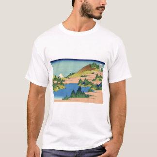 Camiseta O lago de Hakone na província de Sagami
