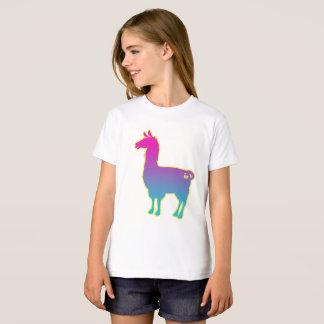 Camiseta O lama tropical cor-de-rosa caçoa o t-shirt
