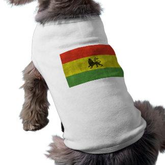 Camiseta O leão de Judah afligiu a bandeira