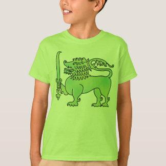 Camiseta O leão verde Sri Lanka caçoa o t-shirt