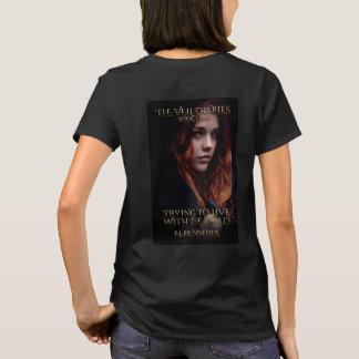 Camiseta O livro dos diários do véu mim parte traseira