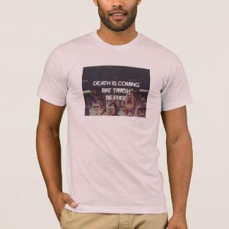 Camiseta O lixo da morte dos guaxinins Remix