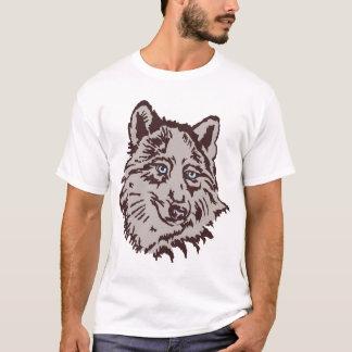 Camiseta o lobo, fortaleza, infesta, grupo, feroz,
