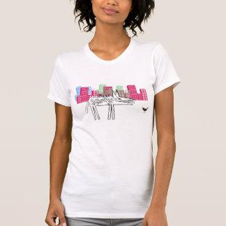 Camiseta O lobo na cidade da Dinamarca