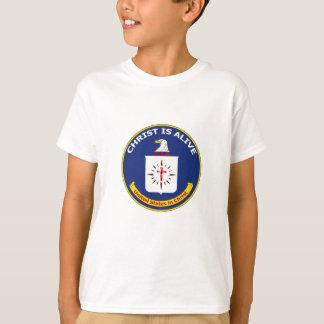 """Camiseta O logotipo CIA """"cristo está vivo """""""