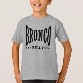Camiseta O logotipo preto do miúdo