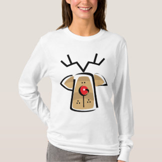 Camiseta O longo das mulheres do Natal Sleeved