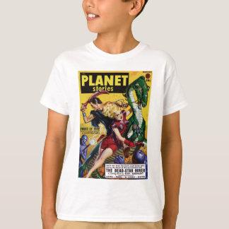 Camiseta O louro heróico monta um dinossauro