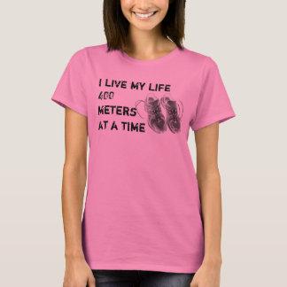 Camiseta O LS das senhoras - Eu vivo minha vida 400