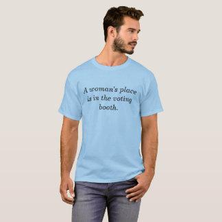 Camiseta O lugar de uma mulher está na cabine de votação