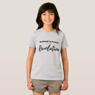 Camiseta O lugar de uma mulher está na revolução - Fe