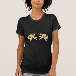 Camiseta O lutador do Sumo de Rikishi enfrenta fora a mono