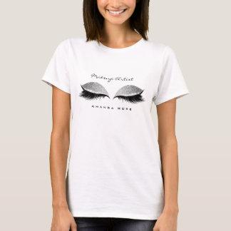 Camiseta O maquilhador Beuty chicoteia o brilho preto de