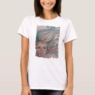 Camiseta O mar, design do t-shirt do polvo