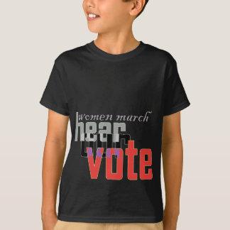 Camiseta o março das mulheres ouve nosso fransisco bay.p de