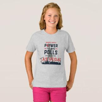 Camiseta O março Las Vegas das mulheres - o T do miúdo