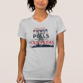 Camiseta O março Las Vegas das mulheres - T americano do