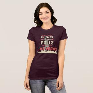 Camiseta O março Las Vegas das mulheres - T escuro