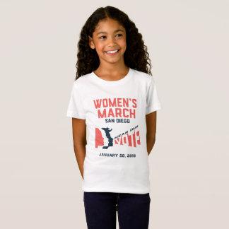 Camiseta O março San Diego março oficial das mulheres caçoa