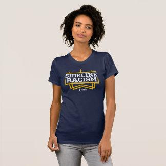 Camiseta O marinho/amarelo das mulheres do t-shirt do