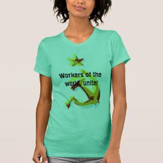Camiseta O martelo e a foice, trabalhadores do mundo,