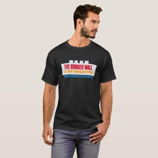 Camiseta O material da parede da beira