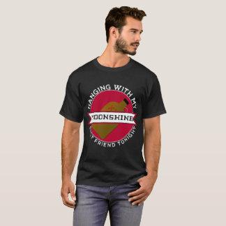 Camiseta O melhor amigo Moonshine hoje à noite o t-shirt do