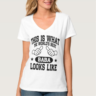 Camiseta O melhor babá do mundo olha o gosto