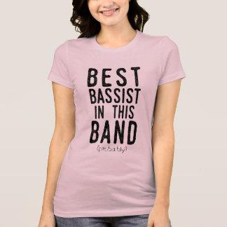 Camiseta O melhor baixista (provavelmente) (preto)